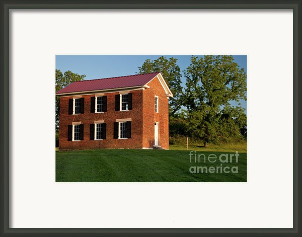 Old Schoolhouse Framed Print By Brian Jannsen