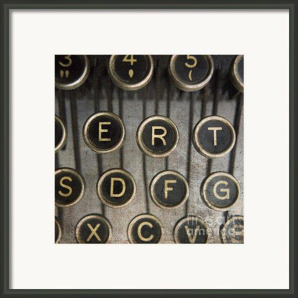 Old Typewrater Framed Print By Bernard Jaubert