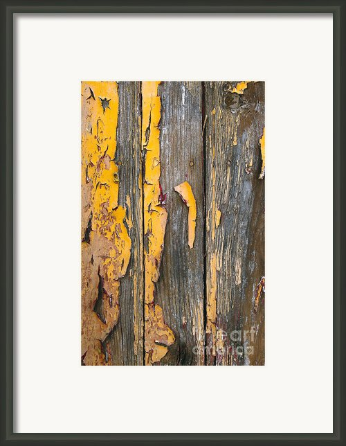 Old Wooden Background Framed Print By Carlos Caetano