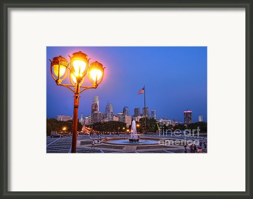 Philadelphia At Dusk Framed Print By Olivier Le Queinec