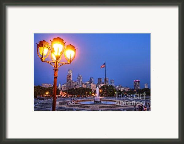 Philadelphia At Dusk Framed Print By Olivier Le Queinec
