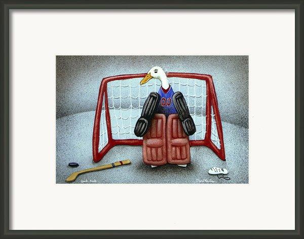 Puck Duck... By Will Bullas Framed Print By Will Bullas