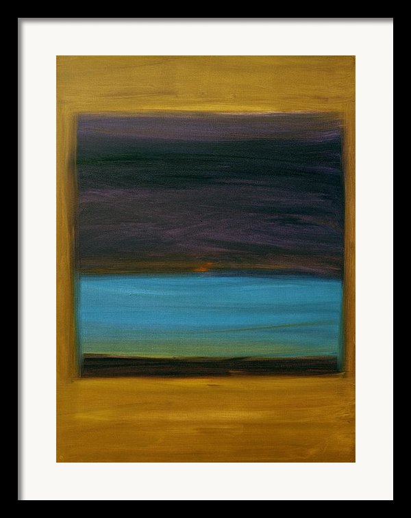 Purple And Turquoise In Yellow Framed Print By Kongtrul Jigme Namgyel