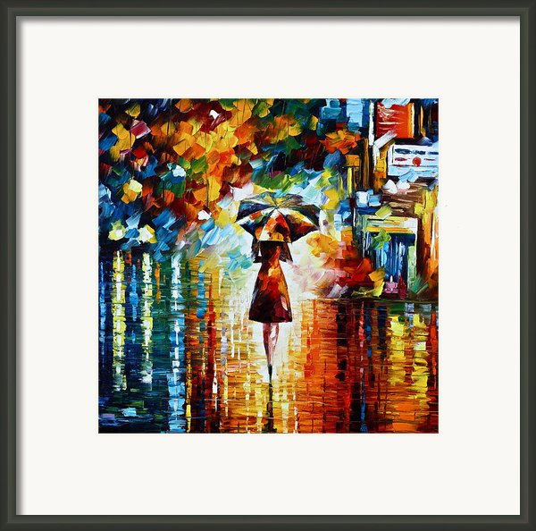 Rain Princess Framed Print By Leonid Afremov