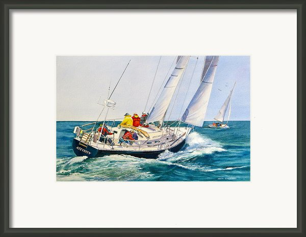 Regatta Bound Framed Print By Karol Wyckoff