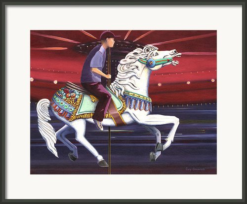 Riding The Carousel Framed Print By Gary Giacomelli