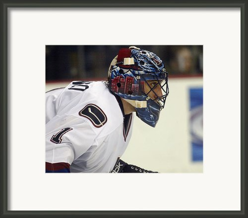 Roberto Luongo Framed Print By Don Olea