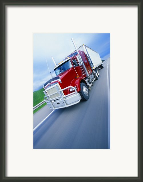 Semi-trailer Truck Framed Print By Don Hammond