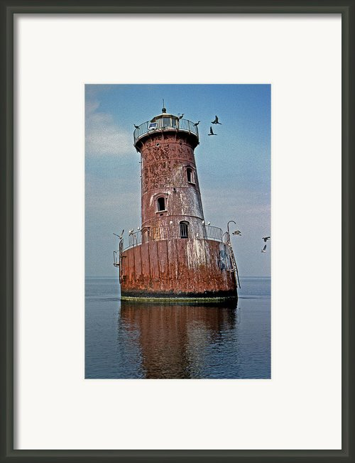 Sharps Island Lighthouse Framed Print By Skip Willits
