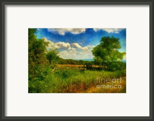 Split Rail Fence Framed Print By Lois Bryan