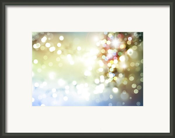 Starry Background Framed Print By Les Cunliffe