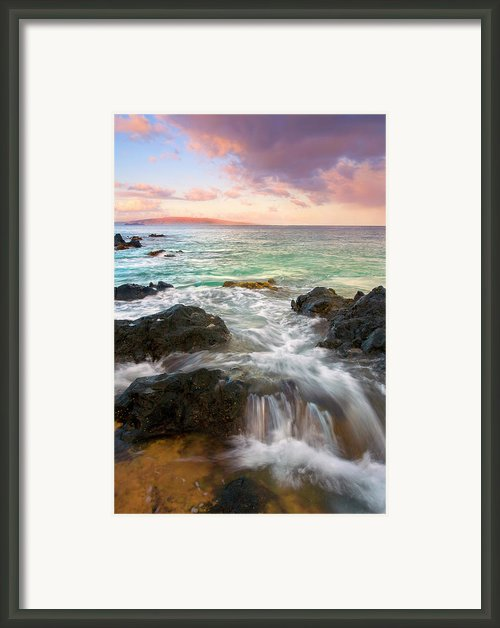 Sunrise Surge Framed Print By Mike  Dawson