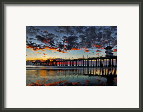 Sunset Framed Print By Peter Dang