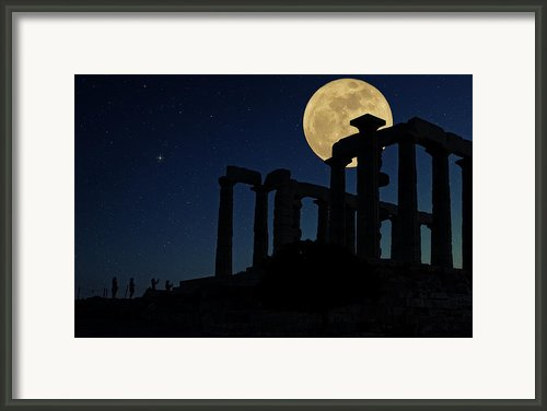 Temple Of Poseidon  Framed Print By Emmanuel Panagiotakis