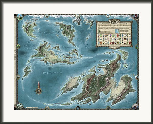The Known World Of Skenth Framed Print By Pieter Talens