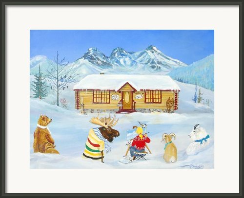 The Painting Lesson Framed Print By Virginia Ann Hemingson