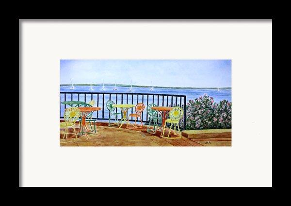 The Terrace View Framed Print By Thomas Kuchenbecker