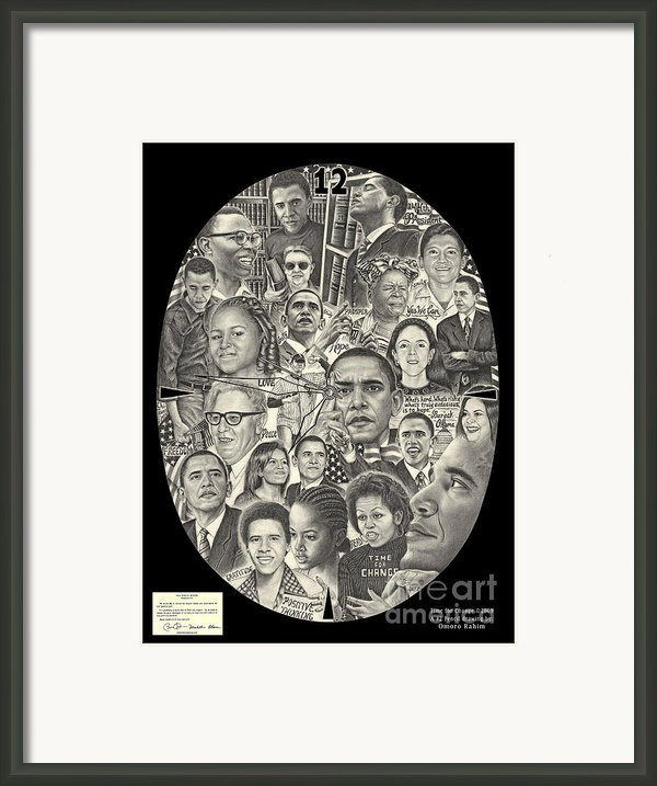 Time For Change Framed Print By Omoro Rahim
