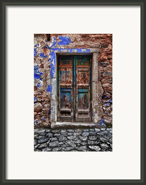 Traditional Door.. Framed Print By Emmanouil Klimis
