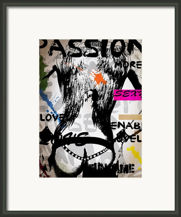 Typography Male  Framed Print By Mark Ashkenazi