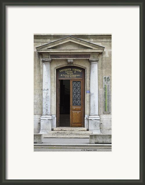 Universite Lumiere Framed Print By Allen Sheffield