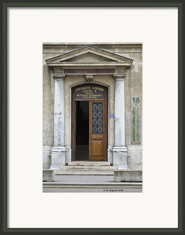 Universite Lumiere Framed Print By Allen Sheffield