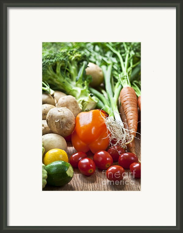 Vegetables Framed Print By Elena Elisseeva