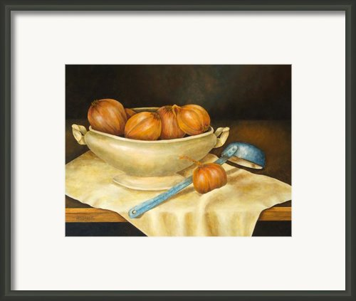 Venetian Table Framed Print By Pamela Allegretto