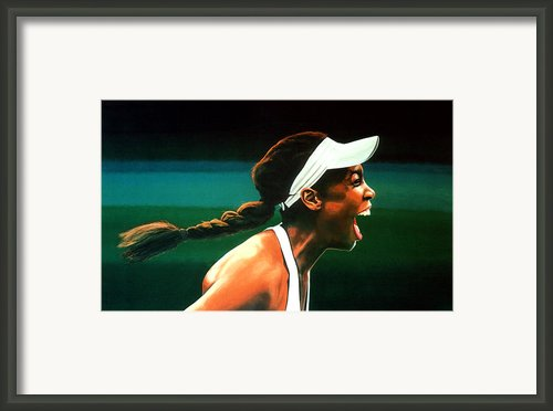 Venus Williams Framed Print By Paul  Meijering