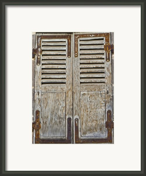 Weathered And Worn Framed Print By Georgia Fowler