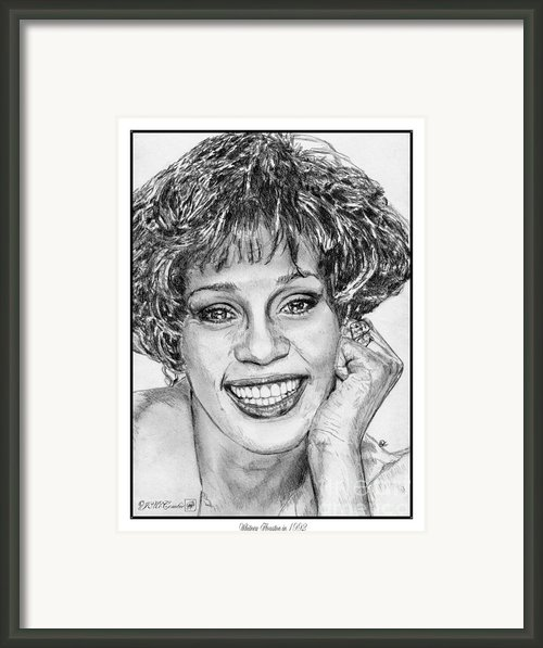 Whitney Houston In 1992 Framed Print By J Mccombie
