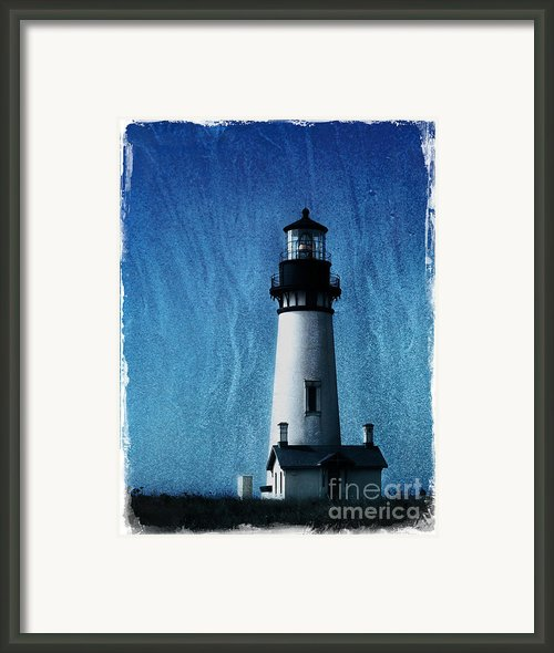 Yaquina Head Lighthouse Framed Print By Elena Nosyreva