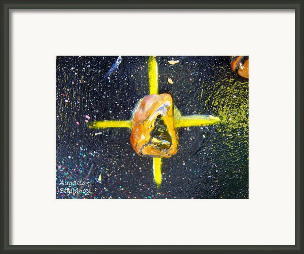 Barack Obama Star Framed Print By Augusta Stylianou