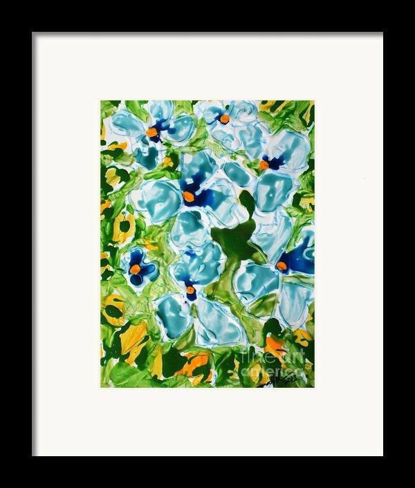 Miyoko Flowers Framed Print By Baljit Chadha