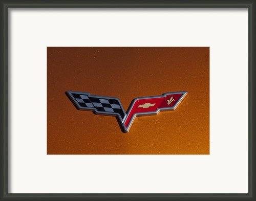 2007 Chevrolet Corvette Indy Pace Car Emblem Framed Print By Jill Reger