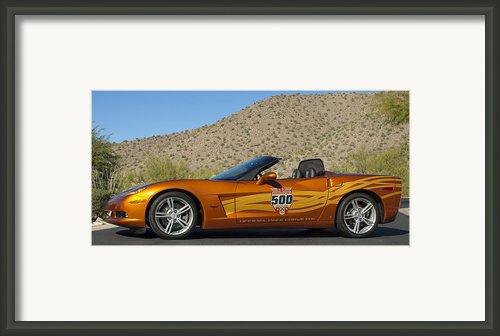 2007 Chevrolet Corvette Indy Pace Car Framed Print By Jill Reger
