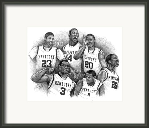 2012 Ncaa Champion Wildcats Framed Print By Tanya Crum