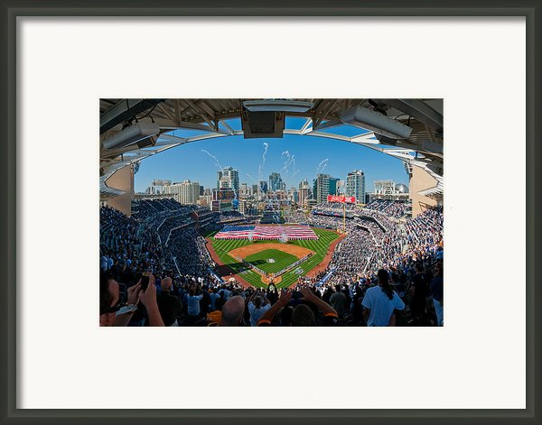 2013 San Diego Padres Home Opener Framed Print By Mark Whitt