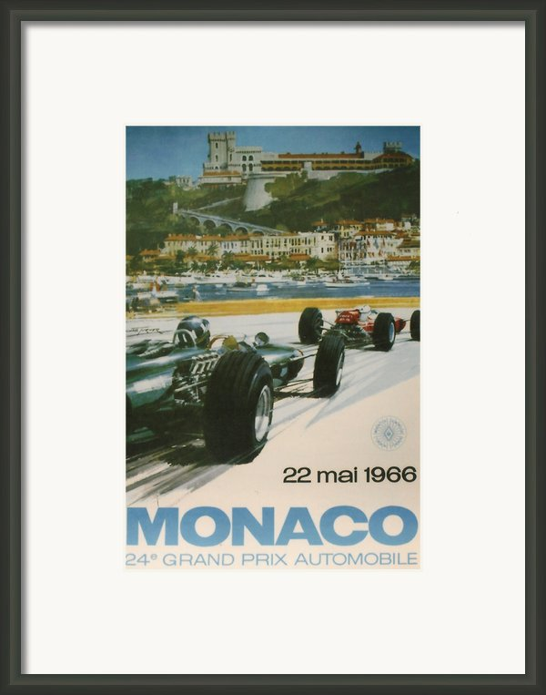 24th Monaco Grand Prix 1966 Framed Print By Nomad Art And  Design