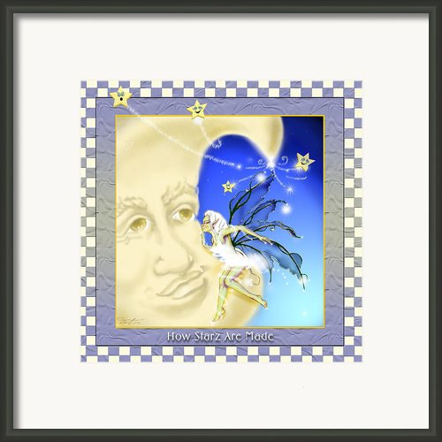 24x24 How Starz Are Made Framed Print By Dia T