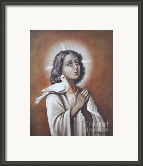 267  The Boy Jesus - A Jew Framed Print By Sigrid Tune