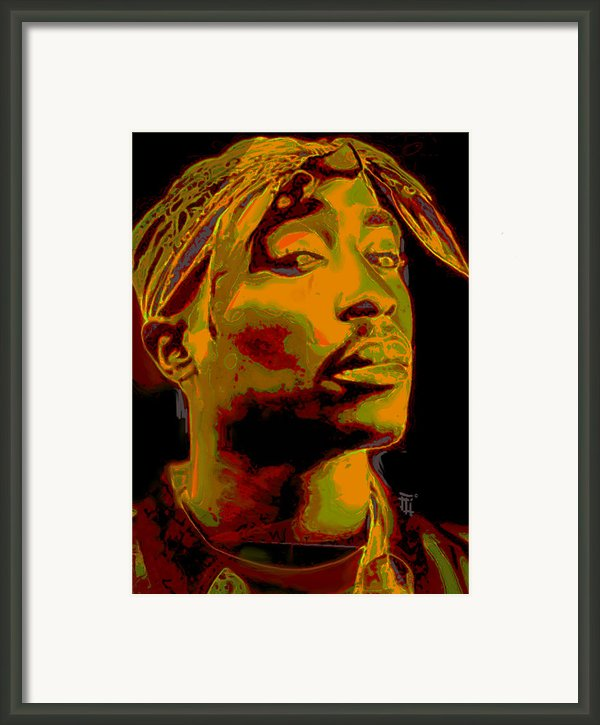 2pac  Framed Print By Byron Fli Walker