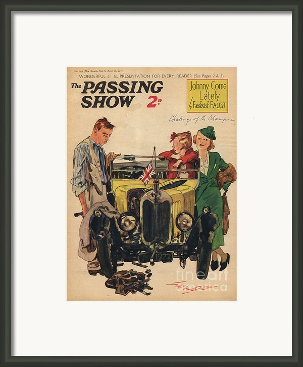1930s,uk,passing Show,magazine Cover Framed Print By The Advertising Archives