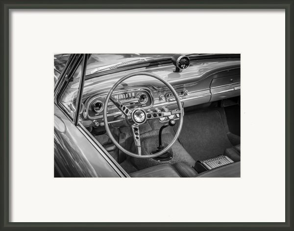 1963 Ford Falcon Sprint Convertible Bw  Framed Print By Rich Franco