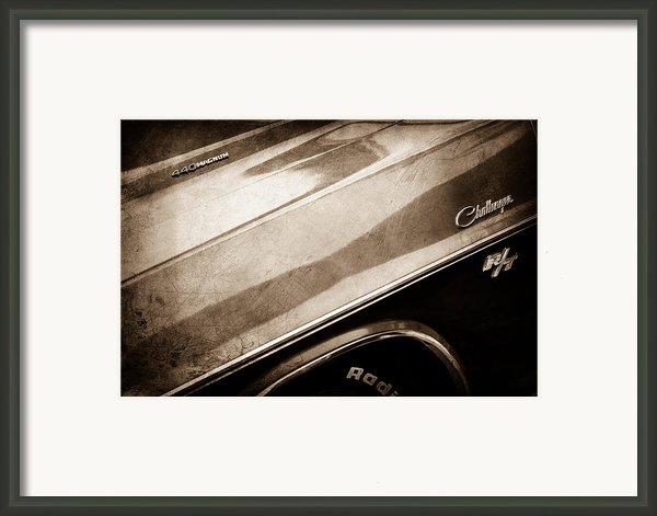 1970 Dodge Challenger Rt Convertible Emblems Framed Print By Jill Reger