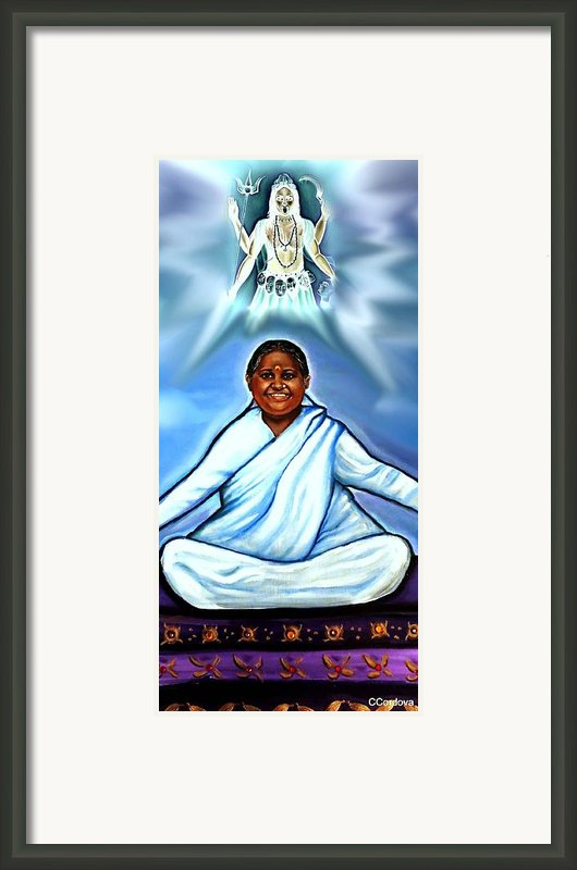 Amma And Kali Framed Print By Carmen Cordova