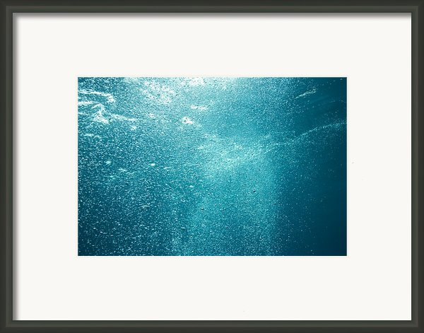 Bubbles Underwater Framed Print By Stuart Westmorland