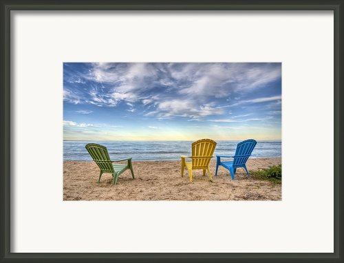 3 Chairs Framed Print By Scott Norris