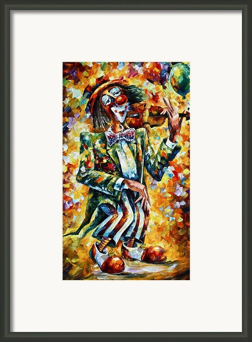 Clown Framed Print By Leonid Afremov