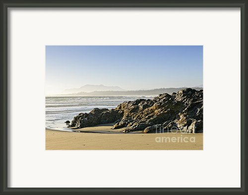 Coast Of Pacific Ocean On Vancouver Island Framed Print By Elena Elisseeva